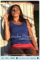 Silvia James in Smoke Break video from ALS SCAN
