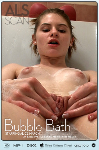 Alice March - `Bubble Bath Masturbation Movie` - for ALS SCAN