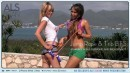 Alexa Diamond & Brea Bennett in Jump Rope & Trib Bts video from ALS SCAN