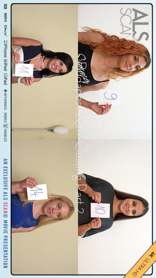 Angel Rush & Cherry Kiss & Lenka & Olivia Nice & Rebecca Volpetti & Shona River & Veronica Clark & Vicky Love in Budapest 2017 Casting Part 2