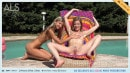 Gina Gerson & Lilien Ford in Poolside Peepshow BTS video from ALS SCAN