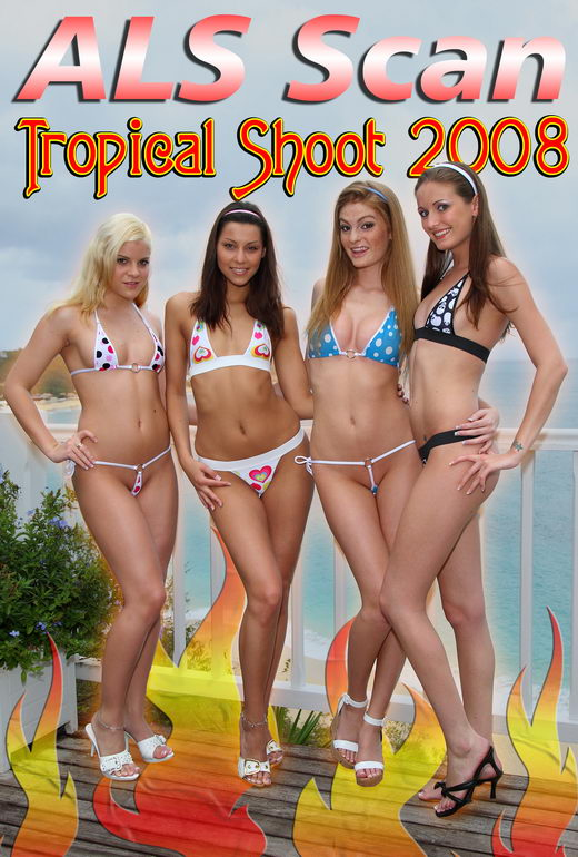 Hailey Young & Klaudia & Kacey Jordan & Amy Lee & Faye Reagan & Laura King - `Tropical '08 - Behind the Scenes` - for ALSSCAN