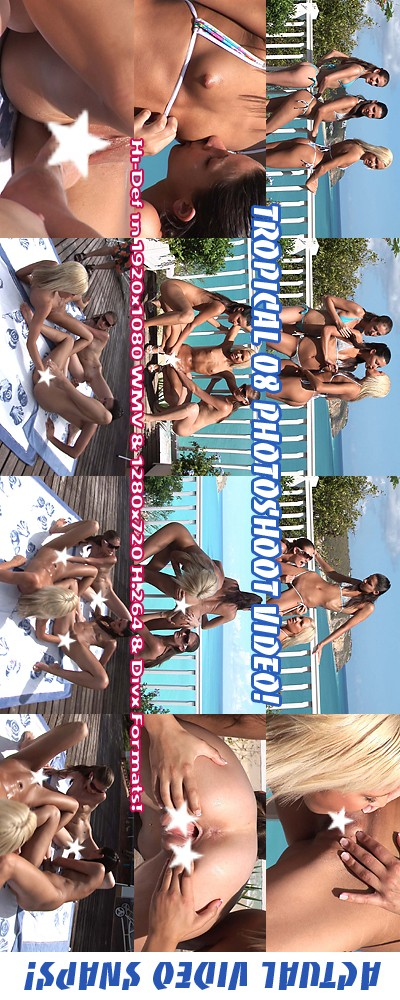 Hailey Young & Klaudia & Kacey Jordan - `Tropical '08 - Photoshoot` - for ALSSCAN