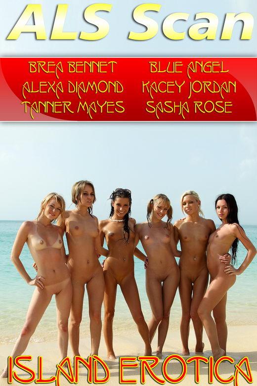 Brea Bennet & Blue Angel & Alexa Diamond & Kacey Jordan & Tanner Mayes & Sasha Rose - `Island Erotica` - for ALSSCAN