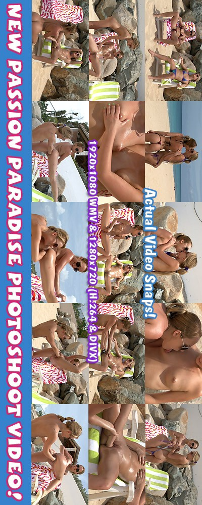 Blue Angel & Sara Jaymes - `Passion Paradise - Photoshoot` - for ALSSCAN