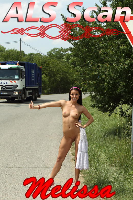Melissa - `Horny Hitchhiker` - for ALSSCAN