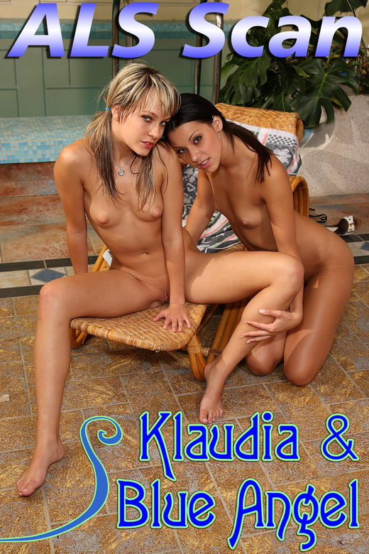 Blue Angel & Klaudia - `Poolside Passion` - for ALSSCAN