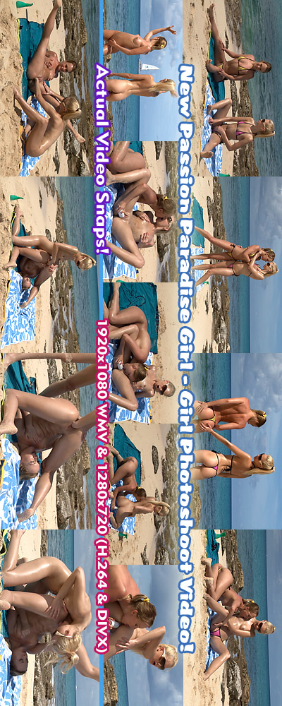 Blue Angel & Franziska - `Passion Paradise Photoshoot Video` - for ALSSCAN