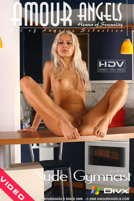 Milena - `Nude Gymnast` - by Veter for AMOUR ANGELS
