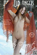 Liza in Winter Forest gallery from AMOUR ANGELS by Den Russ