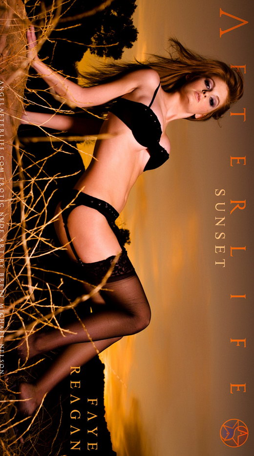 Faye Reagan - `Sunset` - by Brett Michael Nelson for ANGELAFTERLIFE