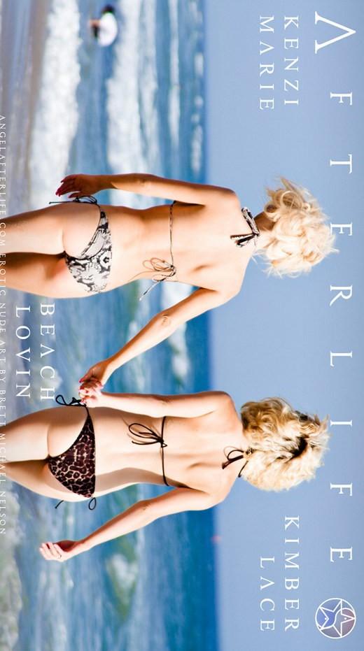 Kenzi Marie & Kimber Lace - `Beach Lovin` - by Brett Michael Nelson for ANGELAFTERLIFE