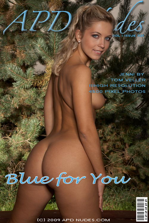 Jenni - `#21 - Blue For You` - by Tom Vellar for APD NUDES
