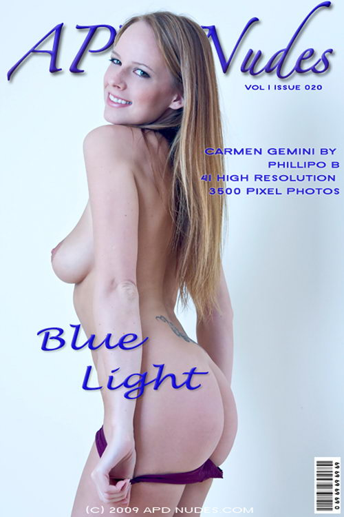 Carmen - `#20 - Blue Light` - by Phillipo B for APD NUDES