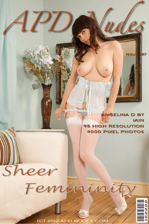 Angelina D - `#187 - Sheer Femininity` - by Iain for APD NUDES