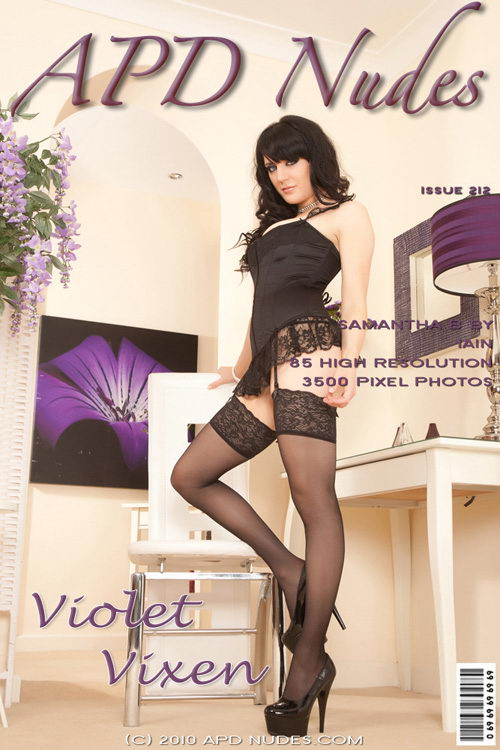 Samantha B - `#212 - Violet Vixen` - by Iain for APD NUDES
