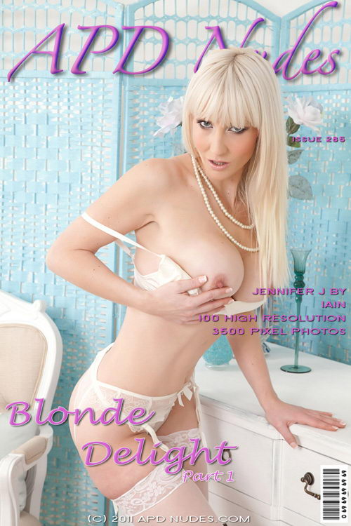 Jennifer J - `#285 - Blonde Delight - Part 1` - by Iain for APD NUDES