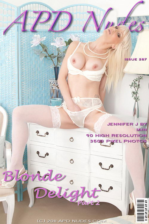 Jennifer J - `#287 - Blonde Delight - Part 2` - by Iain for APD NUDES