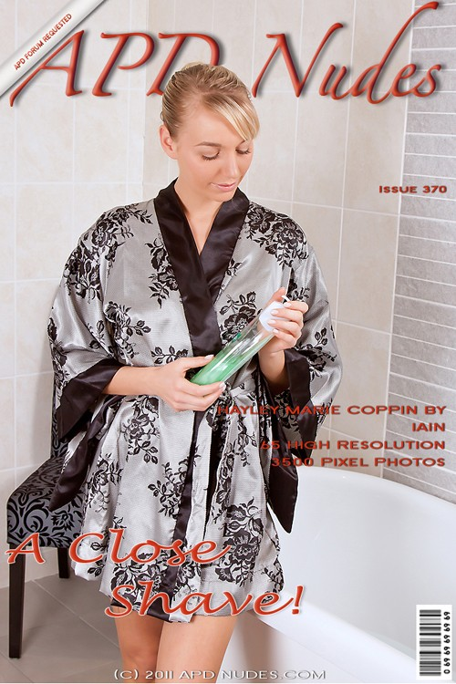 Hayley Marie Coppin - `#370 - A Close Shave !` - by Iain for APD NUDES