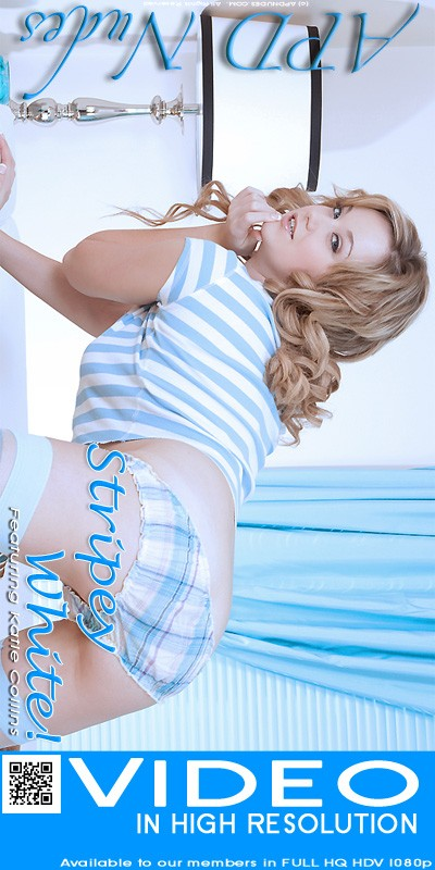 Katie Collins - `Stripey White!` - by Iain for APD NUDES