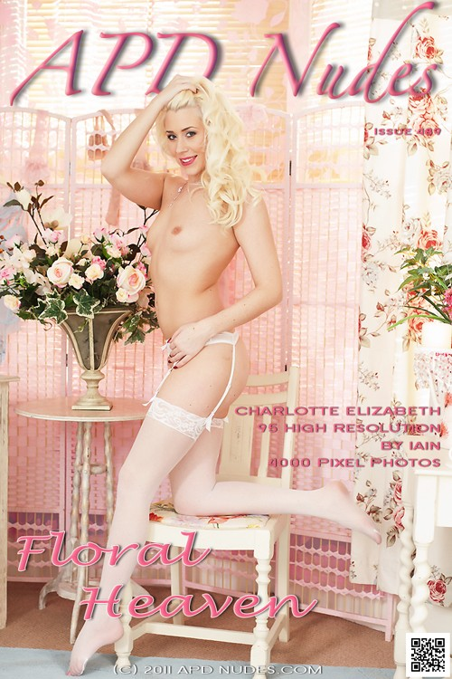 Charlotte Elizabeth - `#489 - Floral Heaven` - by Iain for APD NUDES