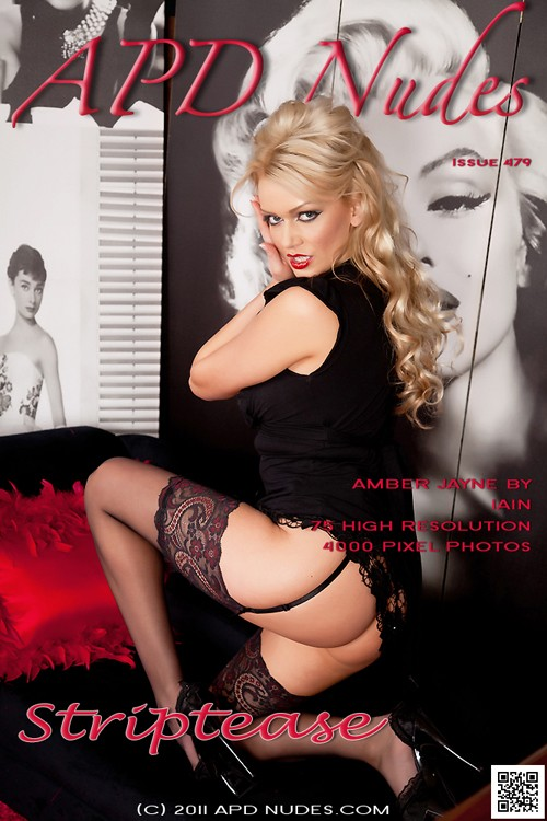 Amber Jayne - `#479 - Striptease` - by Iain for APD NUDES