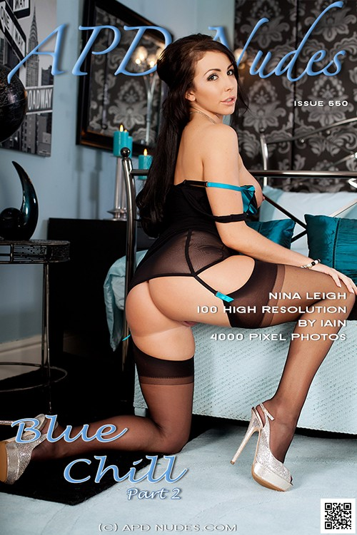 Nina Leigh - `#550 - Blue Chill - Part 2` - by Iain for APD NUDES