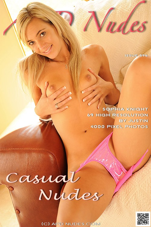 Sophia Knight - `#596 - Casual Nudes` - by Justin Bloom for APD NUDES