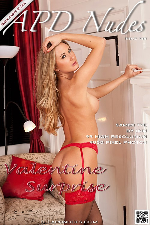 Sammi Tye - `#730 - Valentine Surprise` - by Iain for APD NUDES