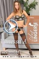 Vanessa A in  video from ART-LINGERIE