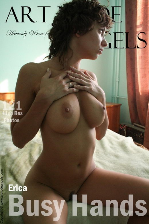 Erica - `Busy Hands` - by Bredon for ART-NUDE-ANGELS