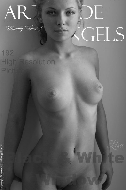 Lisa - `Black and White Window` - by Bredon for ART-NUDE-ANGELS