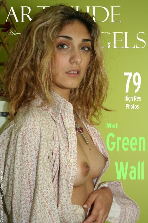 Mel - `Green Wall` - by Bredon for ART-NUDE-ANGELS