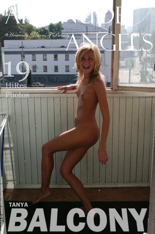 Tanya - `Balcony` - by Bredon for ART-NUDE-ANGELS