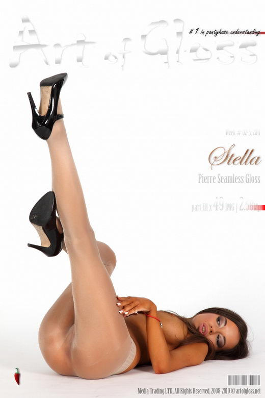 Stella - `Pierre Seamless Gloss Pantyhose [part III]` - for ARTOFGLOSS