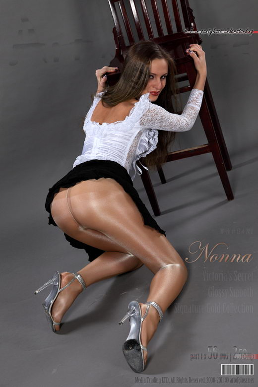 Nonna - `Victoria's Secret Glossy Smooth Signature Gold Collection pantyhose [part I]` - for ARTOFGLOSS