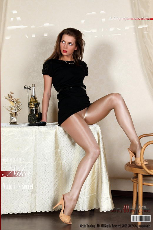 Nika - `Victoria's Secret Glossy Smooth Signature Gold Collection pantyhose [part IV]` - for ARTOFGLOSS