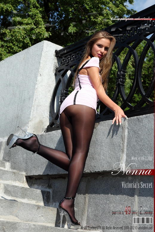 Nonna - `Victoria's Secret Glossy Smooth Signature Gold Collection pantyhose [part III]` - for ARTOFGLOSS