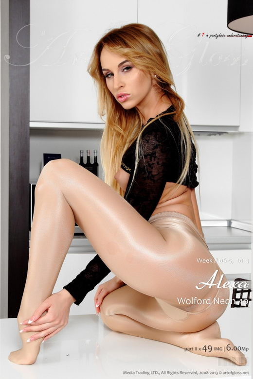 Alexa - `Wolford Neon 40 Cosmetic [part II]` - for ARTOFGLOSS