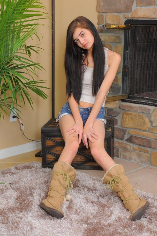 Zoey Kush in scary hairy gallery from ATKPETITES
