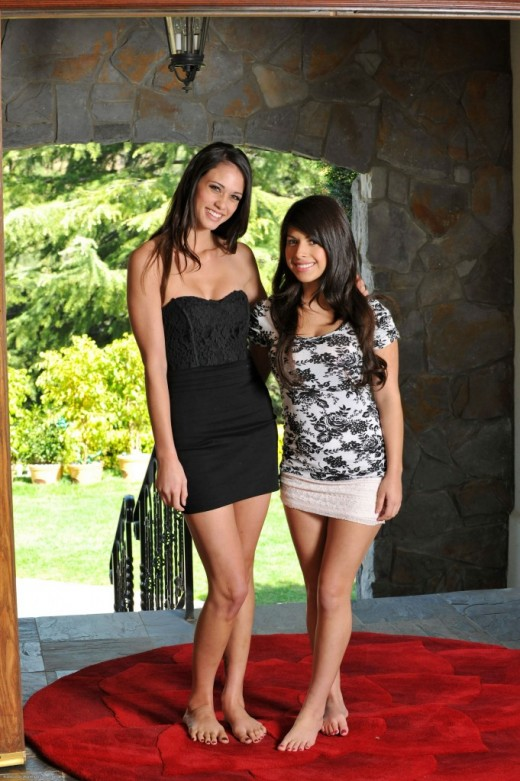 Tiffany Thompson & Layla Rose in lesbian gallery from ATKPETITES