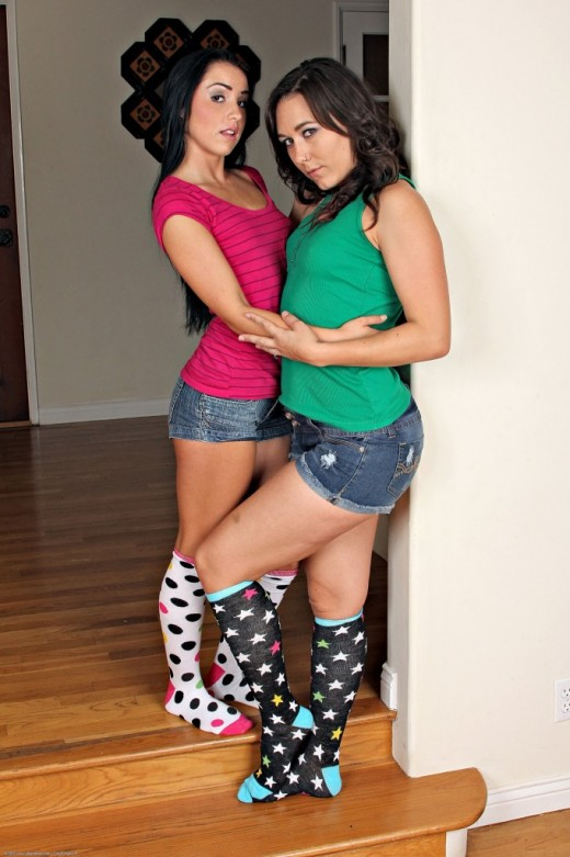 Sinn Sage & Lola Foxx in lesbian gallery from ATKPETITES