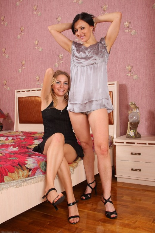 Malika & Lora in hairy lesbians gallery from ATKPETITES