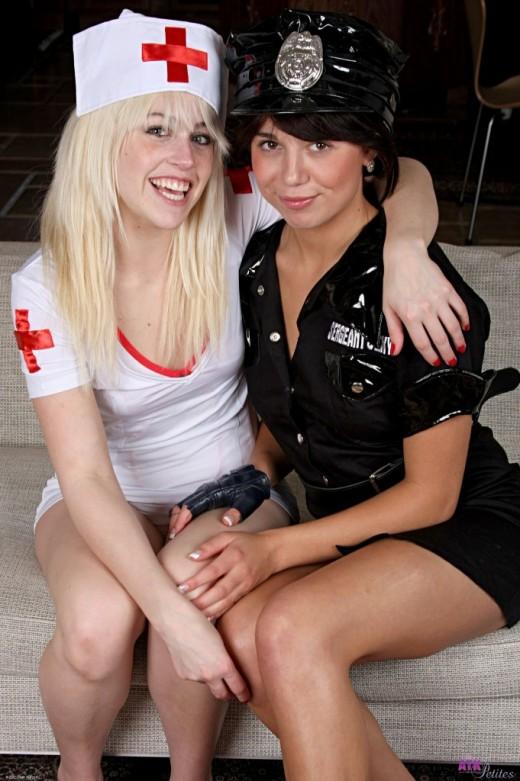 Jayden Pierson & Mila Beth in lesbian gallery from ATKPETITES