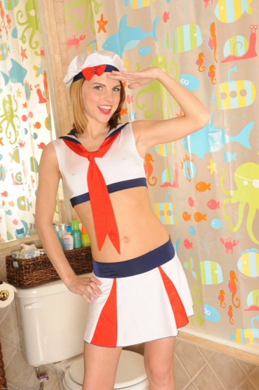 Aubrey Belle in uniforms gallery from ATKPETITES