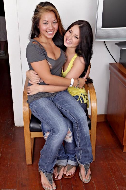 Morgan Lee & Lola Foxx in lesbian gallery from ATKPETITES