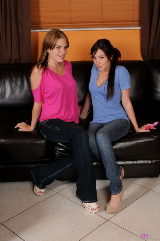 Cassie Laine & Alena Smile in lesbian gallery from ATKPETITES