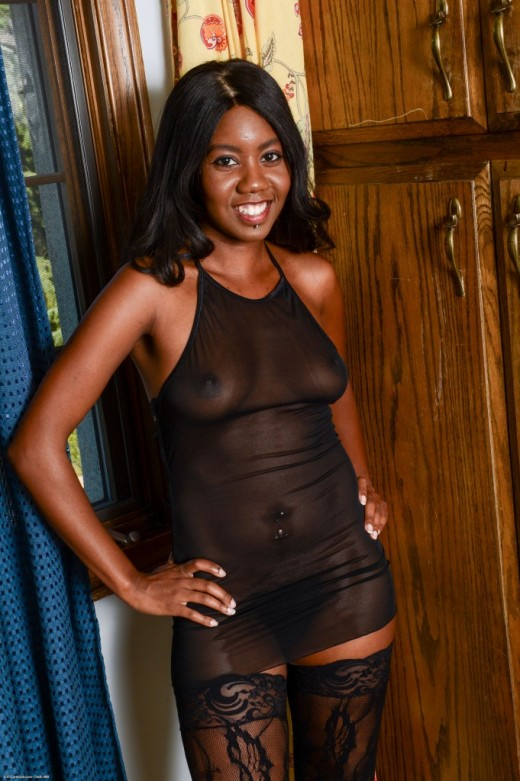 Nina Devon in black women gallery from ATKPETITES