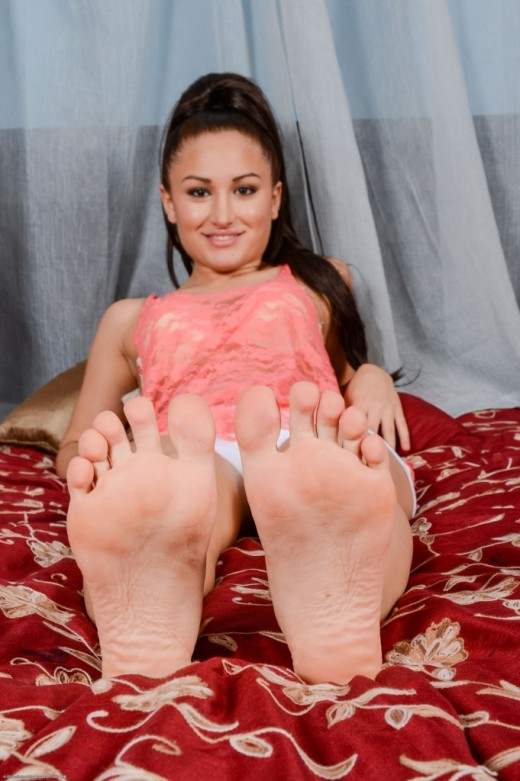 Gabriella Paltrova in footfetish gallery from ATKPETITES