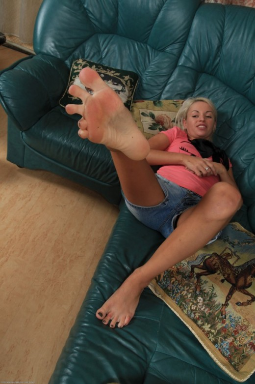 Bella in footfetish gallery from ATKPETITES